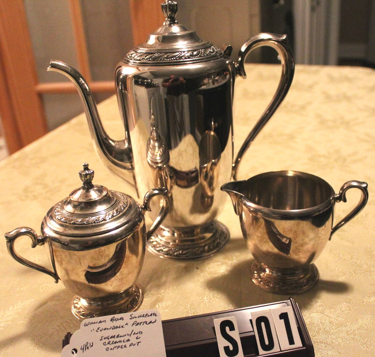 William Rogers Silverplated Evandale Pattern Antique Five Piece ...