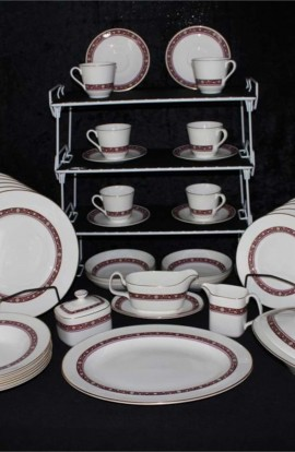 Royal Doulton Minuet Pattern Fine Bone China Dinnerware , a 44 Piece Service for Six