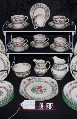 Copeland Spode Chinese Rose Pattern Imperal Ware China Dinnerware , 40 Piece Set , Service for Six