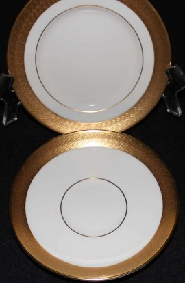 Waterford Fine Bone China Kells Pattern WFCKEL , 2 Pieces , Plate and Saucer