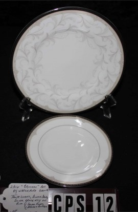 Waterford Fine Bone China Brocade Pattern WFCBRO , 2 Pieces , Salad and Dessert Plates