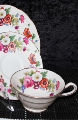 Grosvenor Fine China Jackson Gosling Hampton Pattern 5655 Tea Trio , 3 Pieces Include a Cup , Saucer and Tea Plate