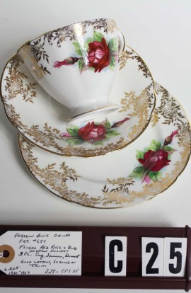 Paragon Fine Bone China Pattern 657 , Vintage Tea Set Trio , Consisting of Cup , Saucer and Tea Plate
