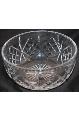 Waterford Cut Crystal Pattern WAT10 Vintage Round 8 Inch Serving Bowl