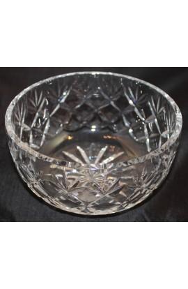 Wedgwood Cut Crystal Pattern WWC1 Vintage 7 Inch Round Serving Bowl