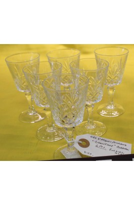 Cris D Arques Durand Cut Crystal Chantilly Taille Beaugency Pattern Stemmed Glasses
