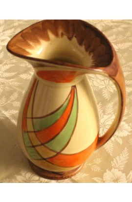 Myott Pottery Art Deco Signed Dante Pattern 9811 Vintage Jug or Pitcher