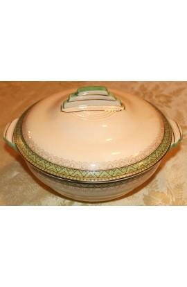 Crown Devon S Fieldings, Ranleigh Pattern D308 Antique Vegetable Bowl with Lid