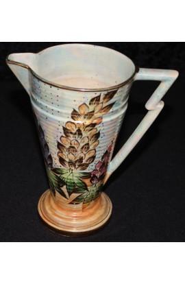 Kensington Ware Burslem Vintage Lustreware Rhododendron Pat Pitcher