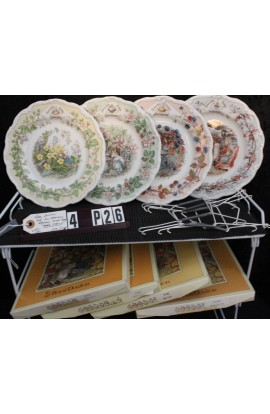 Royal Doulton China Brambly Hedge Four Seasons Patterns Set of 4 Boxed Collector Plates