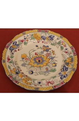 Masons Patent Ironstone China Chop Plate Style Pattern C3859 Antique Deep Well Platter