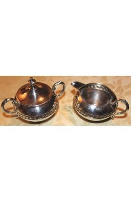 Sheridan Company Silverplated Pattern SDN10 Vintage Sugar Bowl and Creamer