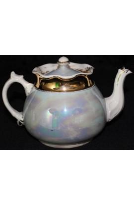 Allerton China Longport England Multi Color Opalescent Lustreware Antique Teapot