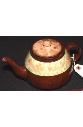 Gibsons Staffordshire Bone China Brown Striped Pattern Vintage Teapot with Lid