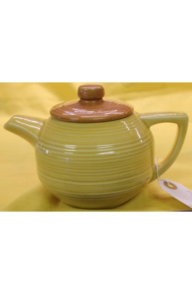 McCoy Pottery USA Pattern 649 Yellow with Light Brown Lid Vintage Tea Pot