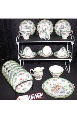Hammersley Fine Bone China Asiatic Pheasants Pattern 6908 Antique Tea Set