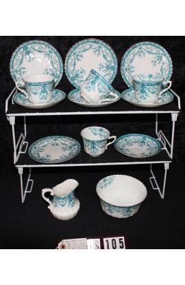 Royal Albert Crown Fine Bone China Eton Pattern 1270 Antique Tea Set