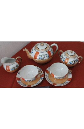 Lustre Ware Hand Painted Pattern Very Thin or Opaque Fine China Tea Set