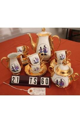 Karlovarsky Porcelain Hass China CZJZEK Pattern Vintage Demitasse Tea Set