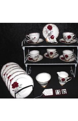 Royal Stafford Fine Bone China Roses to Remember Pattern 1992 Tea Set
