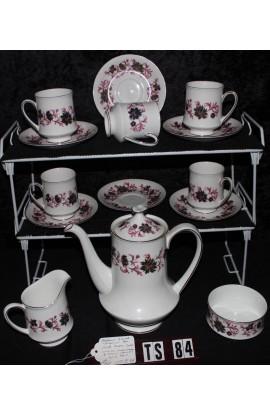 Paragon Fine Bone China Michelle Pattern Vintage Coffee Set