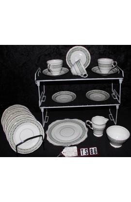 Royal Stafford Fine Bone China Mid Century Style 16 Piece Vintage Tea Set