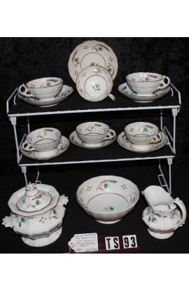 Victorian Style Hand Painted Porcelain Antique Rare Mid 19th Century Tea Set