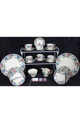 Royal Cauldon Fine Bone China Victoria Floradora Pattern V7173 Vintage Tea Set