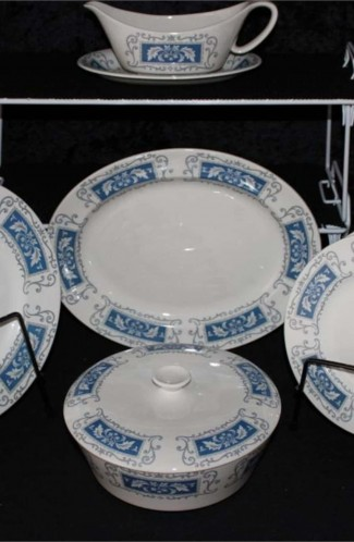Crown Ducal Marina Pattern Fine Bone China Dinnerware