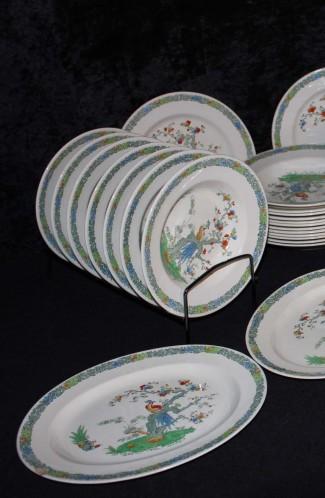 Copeland Spode Bermuda Pattern Ironstone China Dinnerware