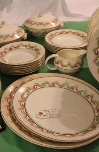 Barratts Indian Scroll Pattern China Dinnerware