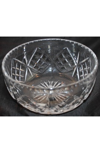 Waterford Cut Crystal Pattern WAT10 Vintage Round 8 Inch Serving Bowl