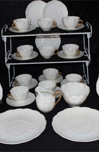 Shelly Fine Bone China White Ware Dainty Tea Cup Pattern Vintage Tea Set