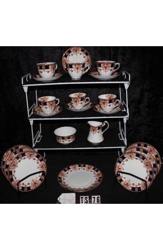Phoenix Ware Thomas Forester Fine Bone China Blue Imari Pattern Antique Tea Set
