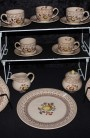 Johnson Brother Staffordshire Old Granite Fruit Sampler Older Pattern China Tea Set
