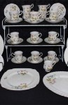 Richmond Wild Anemone Bone China Dinnerware , A 50 Piece Set, Service for Six , with Extra Pieces