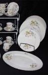 Richmond Wild Anemone Bone China Dinnerware , Dinner and Salad Plates , Large Oval Platter