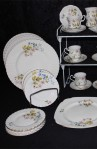 Richmond Wild Anemone Bone China Dinnerware , Dinner Plates ,Tea and Coffee Cups , Square Serving Plate