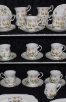 Richmond Wild Anemone Bone China Dinnerware , Coffee and Tea Cups and Saucers