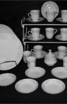Fine Porcelain China of Japan Eloquence Pattern Dinnerware 43 Piece Set