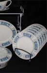 Crown Ducal Marina Pattern Fine Bone China Dinnerware Salad Plates