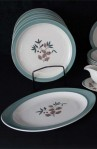 Wedgwood Brecon Pattern Fine Bone China Dinnerware with Plates and Platter