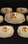 Royal Staffordshire Porcelain Honey Glazed Pattern Dinnerware a Seven Piece Soup Service Set