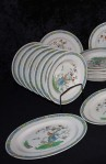 Copeland Spode Bermuda Pattern Ironstone China Dinnerware , A 35 Piece Set with Platter