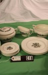 Wedgwood Pembroke T428 Corinthian Pattern China Dinnerware , A 25 Piece Set with Gravy Boat