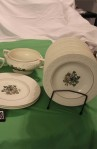 Wedgwood Pembroke T428 Corinthian Pattern China Dinnerware with Salad and Bread Plates