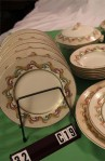 Barratts Indian Scroll Pattern China Dinnerware with Salad Plates and Soup Bowls