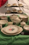 Limoges American Le Fleur Rouge Pattern China Dinnerware  An 86 Piece Set with Three Platters and Coffee Pot
