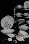 Noritake Bone China Wheaton Pattern Dinnerware with Dinner Plates and Vegetable Bowl