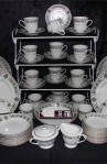 Noritake Buckingham Pattern Fine Bone China Dinnerware  78 PIece , Service for Twelve